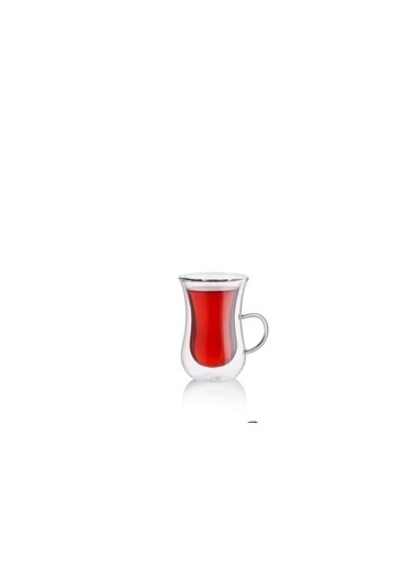 Kosova Çift Cidarlı 6 Kişilik Çay Bardak Renkli